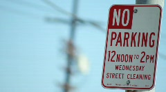No Parking Sign Wed - stock footage