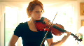 t193 violin player violinist red head redhead Footage