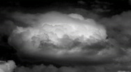 Stock Video Footage of Cloud time lapse, black and white