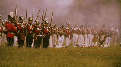 Redcoats Frontline - stock footage