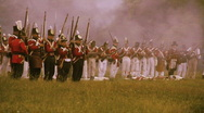Stock Video Footage of Redcoats Frontline