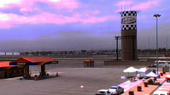 Fuel Tower at Auto Club Speedway  Stock Footage