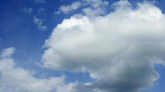 Peaceful clouds time lapse Stock Footage