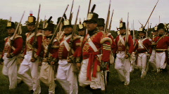 Redcoats are coming Stock Footage