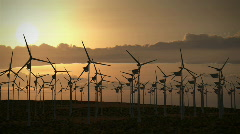 (1194) Electricity Wind Turbines Farm Power Clean Alternative Energy Environm Stock Footage