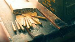 t193 tilt up ammo ammunition - stock footage