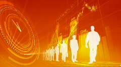 Modern business world concept  Stock Footage