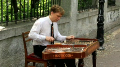 Street musician Stock Footage
