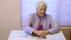 Senior Woman Money Stress  Stock Footage
