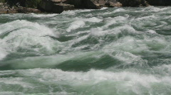 Powerful river rapids.  - stock footage