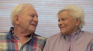 Senior Couple Romantic Fun Stock Footage