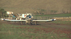 Crop duster liftoff Stock Footage