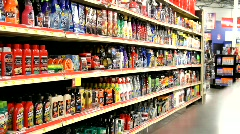 Auto Parts Aisle Stock Footage