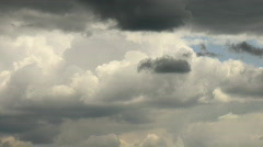 timelapse rainclouds flying in summer sky - stock footage