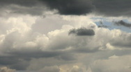 Stock Video Footage of timelapse rainclouds flying in summer sky