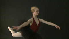 Stock Video Footage of Ballet Dancer in Tutu - Slow Motion