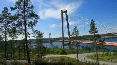 höga kusten bridge - stock footage