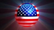 USA Globe Stock Footage