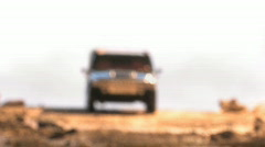 Hummer In Desert - stock footage