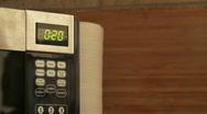 Microwave Clock Countdown Stock Footage