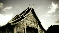 Wat chedi gold Stock Footage