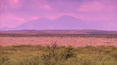 El Capitan Mountains and possible UFO crash site North of Roswell, New Mexico Stock Footage