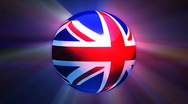 Great Britain Globe Stock Footage