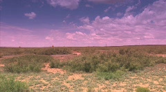 Desert with vanilla sky location 30 miles Northeast of Roswell, New Mexico Stock Footage
