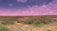 Stock Video Footage of Desert with vanilla sky location 30 miles Northeast of Roswell, New Mexico