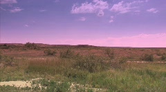 Desert with vanilla sky north of Roswell, NM scene of possible UFO crash Stock Footage