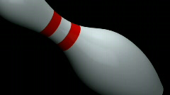 Stock Video Footage of Falling Bowling Pin 720p