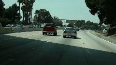 Driving LA Highway 2 Stock Footage
