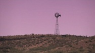 Stock Video Footage of Old Windmill in desert near Roswelll, New Mexico
