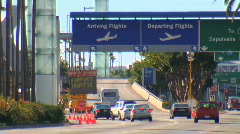 Airport traffic at lax los angeles Stock Footage