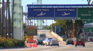 Stock Video Footage of airport traffic at lax los angeles