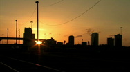 Stock Video Footage of City Sunset Time-lapse