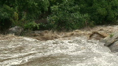 Malawi: flooded river after tropical rain storm 6 Stock Footage