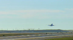 Single plane taking off at LAX Stock Footage