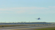 Stock Video Footage of single plane taking off at LAX