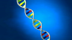 Focused on human DNA - stock footage