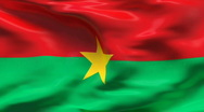 Stock Video Footage of Creased BURKINA FASO  flag in wind - slow motion