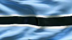 Creased BOTSWANA flag in wind - slow motion Stock Footage