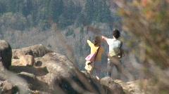 Hiking Couple Stock Footage