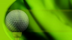 Golf in Green Looping Animated Background  - stock footage