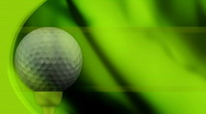 Golf in Green Looping Animated Background  Stock Footage