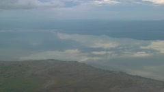 Aerial shots over Lake Manyara in Tanzania, Africa. Stock Footage