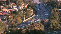 Rush Hour Traffic in Los Angeles Stock Footage
