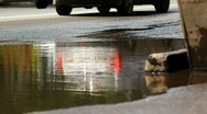 Stock Video Footage of puddle on street