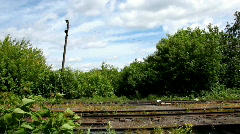 Old Rail road in windy day  Stock Footage