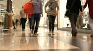 People in shopping mall Stock Footage